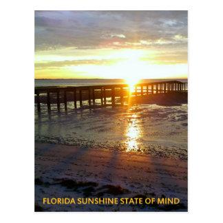 Florida Sunshine State of Mind Postcard