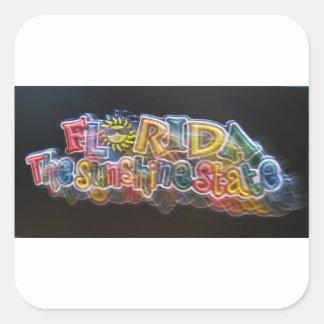 florida-sunshine-state square sticker
