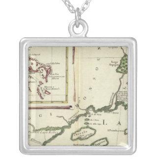 Florida, Superior Lakes, Bahamas Silver Plated Necklace