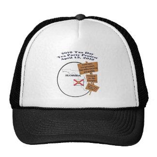 Florida Tax Day Tea Party Protest Baseball Cap Trucker Hat