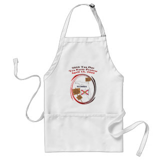 Florida Tax Day Tea Party Protest Standard Apron