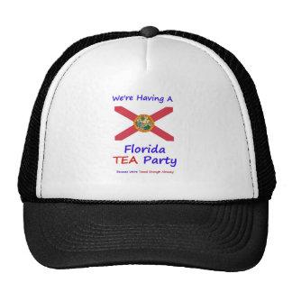 Florida TEA Party - We re Taxed Enough Already Mesh Hats