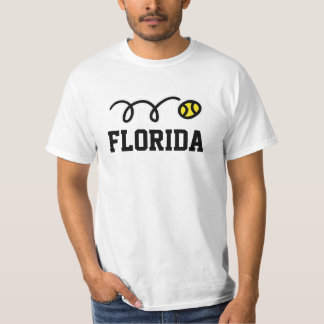 Florida tennis white t shirt for men women & kids
