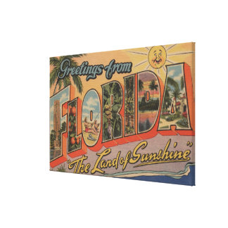 Florida - The Land of Sunshine Gallery Wrap Canvas
