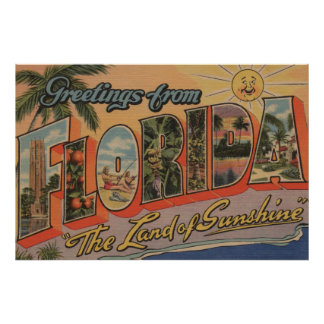 Florida - The Land of Sunshine Poster