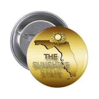 FLORIDA THE SUNSHINE STATE 6 CM ROUND BADGE