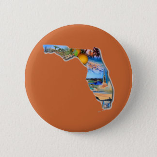 FLORIDA - THE SUNSHINE STATE 6 CM ROUND BADGE