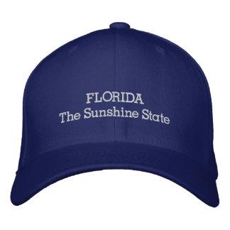 Florida the sunshine state embroidered baseball cap