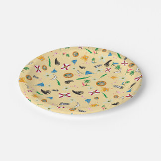 Florida the sunshine state famous items 7 inch paper plate