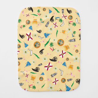 Florida the sunshine state famous items burp cloth