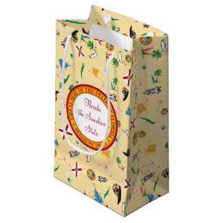 Florida the sunshine state famous items small gift bag