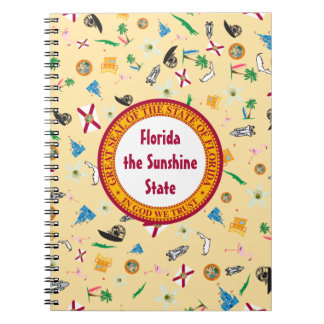 Florida the sunshine state famous items spiral notebooks