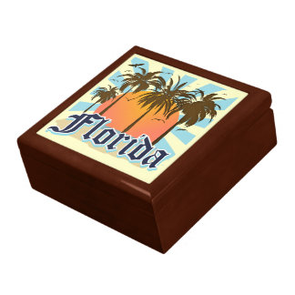 Florida The Sunshine State Trinket Box