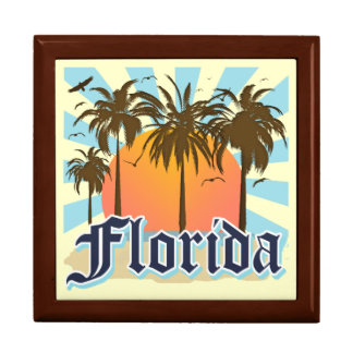 Florida The Sunshine State Large Square Gift Box