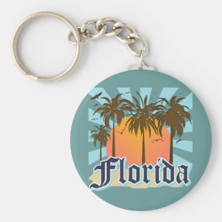 Florida The Sunshine State USA Basic Round Button Key Ring