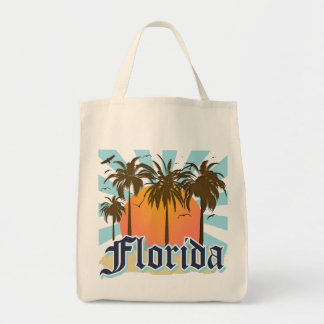 Florida The Sunshine State USA Grocery Tote Bag