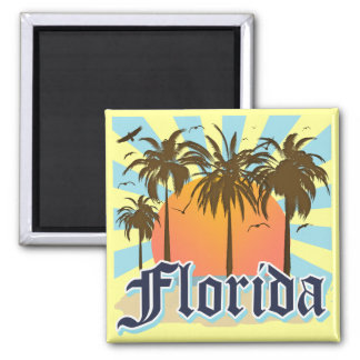 Florida The Sunshine State USA Square Magnet