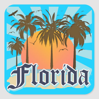 Florida The Sunshine State USA Square Sticker