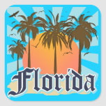 Florida The Sunshine State USA Square Stickers