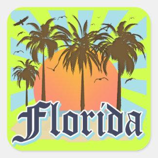 Florida The Sunshine State USA Square Stickers