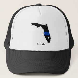 Florida Thin Blue Line Trucker Hat