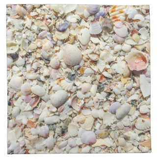 Florida Tropical Sea Shells Beach Shell Background Napkin