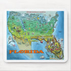 Florida USA Map Mouse Mat