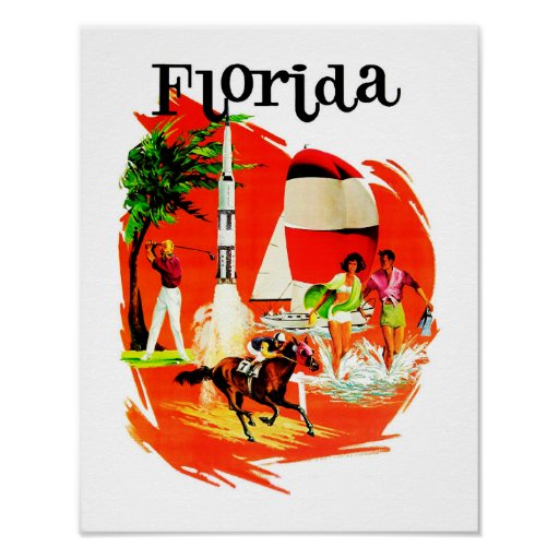 Florida Vintage Travel Poster
