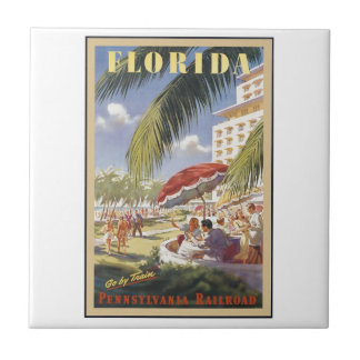 Florida Vintage Travel Tile