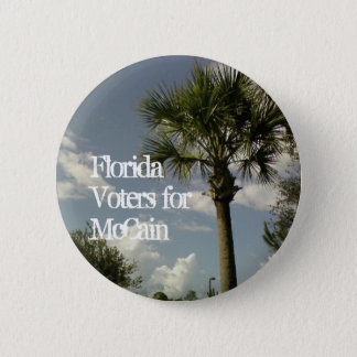 Florida Voters for McCain 6 Cm Round Badge