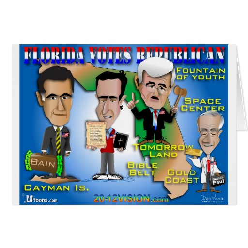 Florida Votes 4 Republicans Greeting Card