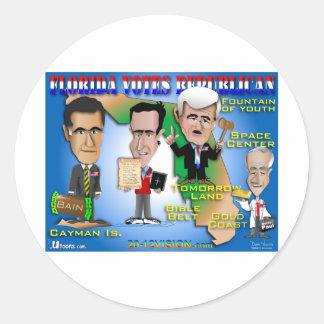 Florida Votes 4 Republicans Round Sticker