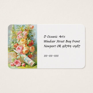Florida Water Cologne with Cabbage Roses Business Card