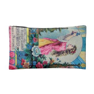 Florida water vintage perfume ad victorian deco cosmetic bag