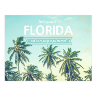 Florida Wedding Tropical Beach Save the Dates Postcard