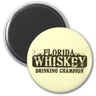 Florida Whiskey Drinking Champion 6 Cm Round Magnet