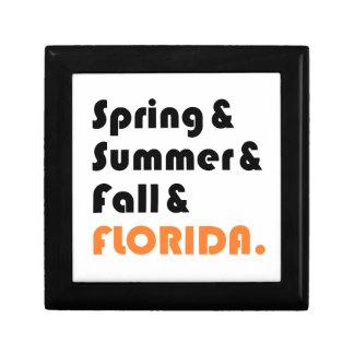 Florida Winter Jewelry Box