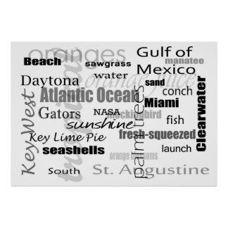 Florida Word Soup Poster