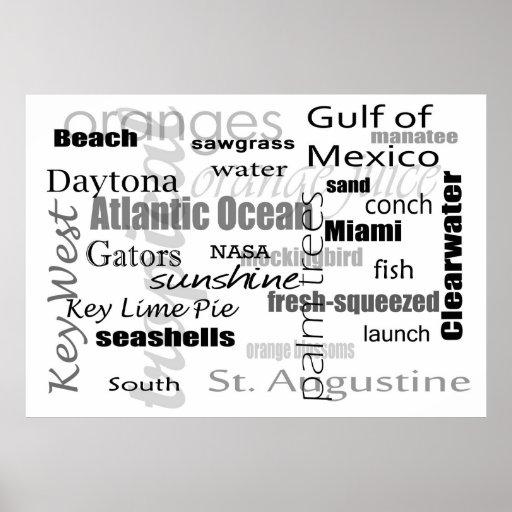 Florida Word Soup Poster