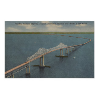 Florida's Sunshine Skyway BridgeFlorida Poster