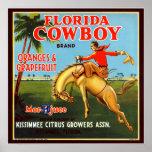 Floriday Cowboy Print
