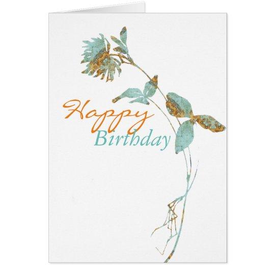 Florillas Happy Birthday Flower Card
