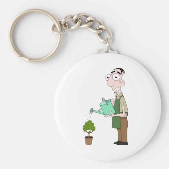 Florist Basic Round Button Key Ring