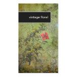 Florist Business Card Elegant Vintage Floral Green