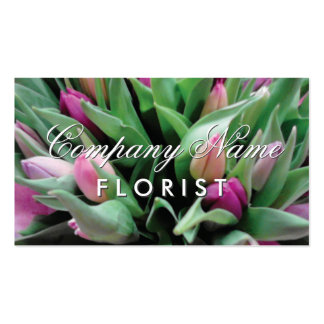 Florist business card template with flower bouquet