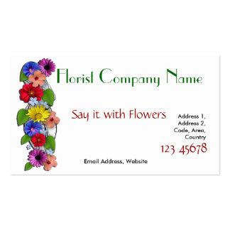 Florist Business Card with 2016 Calendar