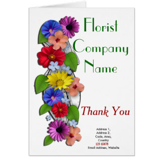 Florist Business Theme Collection Greeting Card