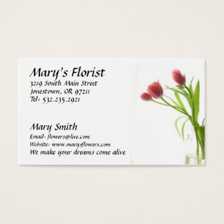 Florist Flowers Business Card