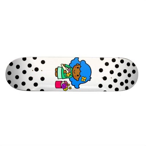 Florist Girl Custom Skate Board