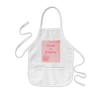 """Florist In Training""- Pink Butterfly & Flowers Kids Apron"